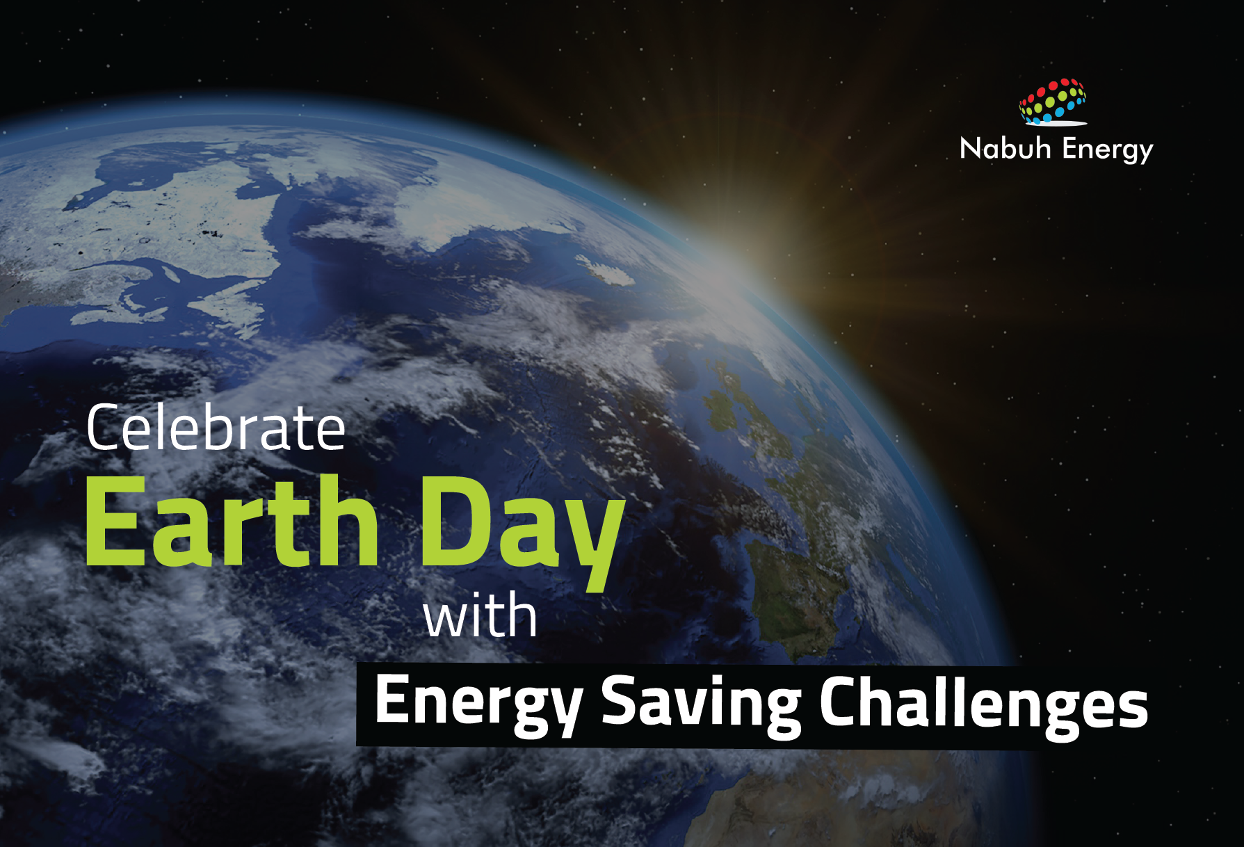 Celebrate Earth Day with Energy Saving Challenges Nabuh Energy