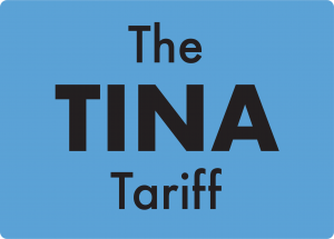 The tina tariff logo