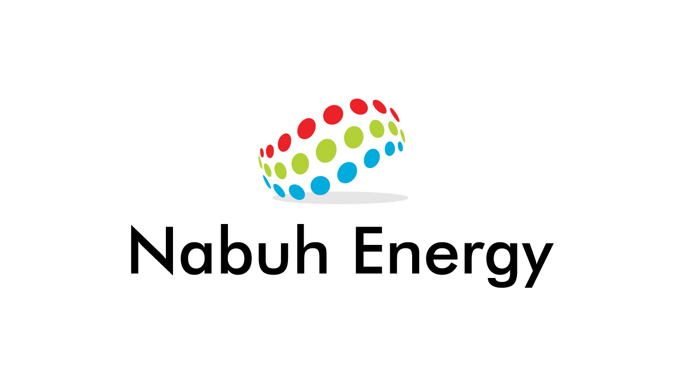 The Nabuh Energy Logo with the words Nabuh Energy underneath the 3 bands of colour